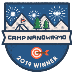 Camp NaNoWriMo 2019 Winner's banner